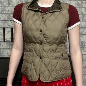 Eddie Bauer Olive Green Light Shell Vest